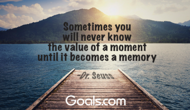 "Dr. Seuss - ""Sometimes you will never know the value of a moment until it becomes a memory.\"""